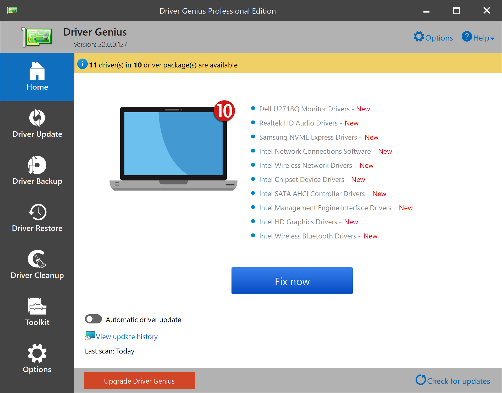 Driver Genius manage your PC to get 100% up to date drivers and optimize PC performance.